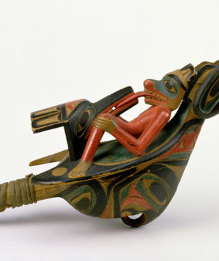 Raven rattle, Haida or Tlingit