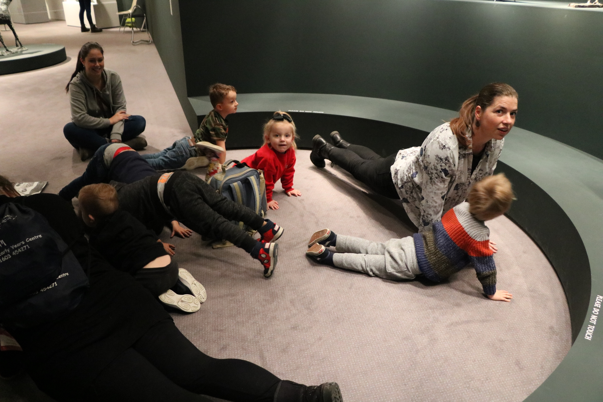 People, floor, gallery