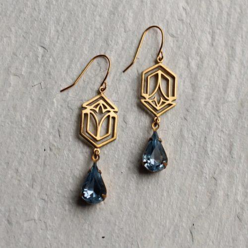 Deco Sapphire Earrings