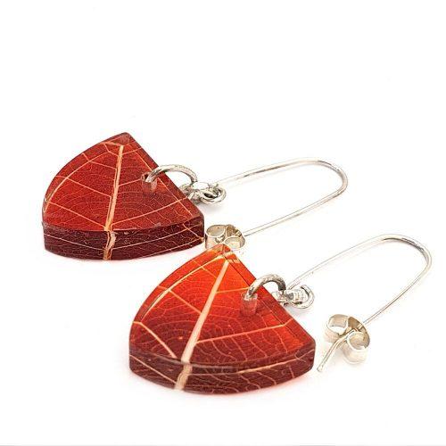 Sue Gregor Skeleton Orange Earrings