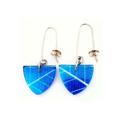 Sue Gregor Blue Skeleton Earrings