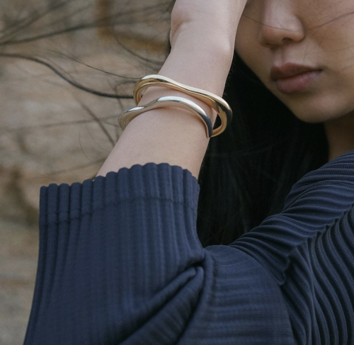 SINU silver and bronze cuffs from MGG Studio photo credit Hannah Thornhill